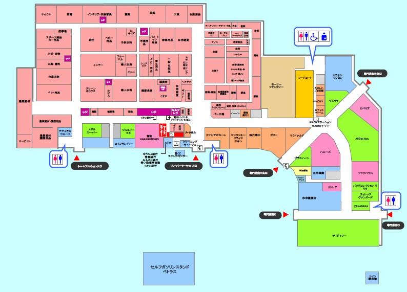 十和田店フロアマップ